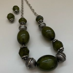 Melted Green Necklace